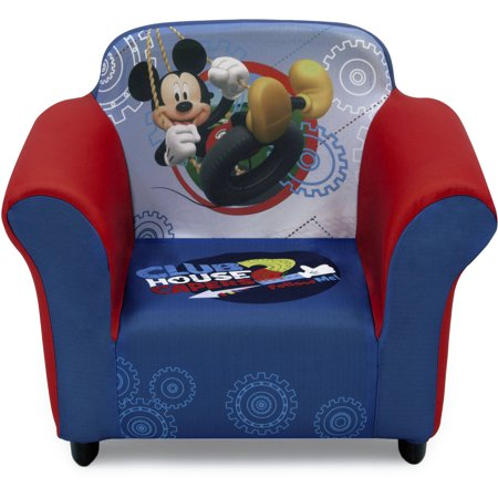 Disney Mickey Mouse Kids Upholstered Chair with Sculpted Plastic Frame by Delta Children