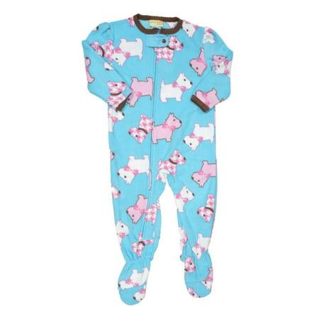 1e734aaa9861 Peas   Carrots - Infant   Toddler Girls Plush Blue Scottie Dog Sleeper  Sleep   Play Pajamas - Walmart.com