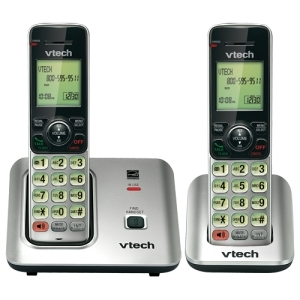 CS6619-2 CORDLESS PHONE W / 2 HANDSETS VTECH CS6619-2