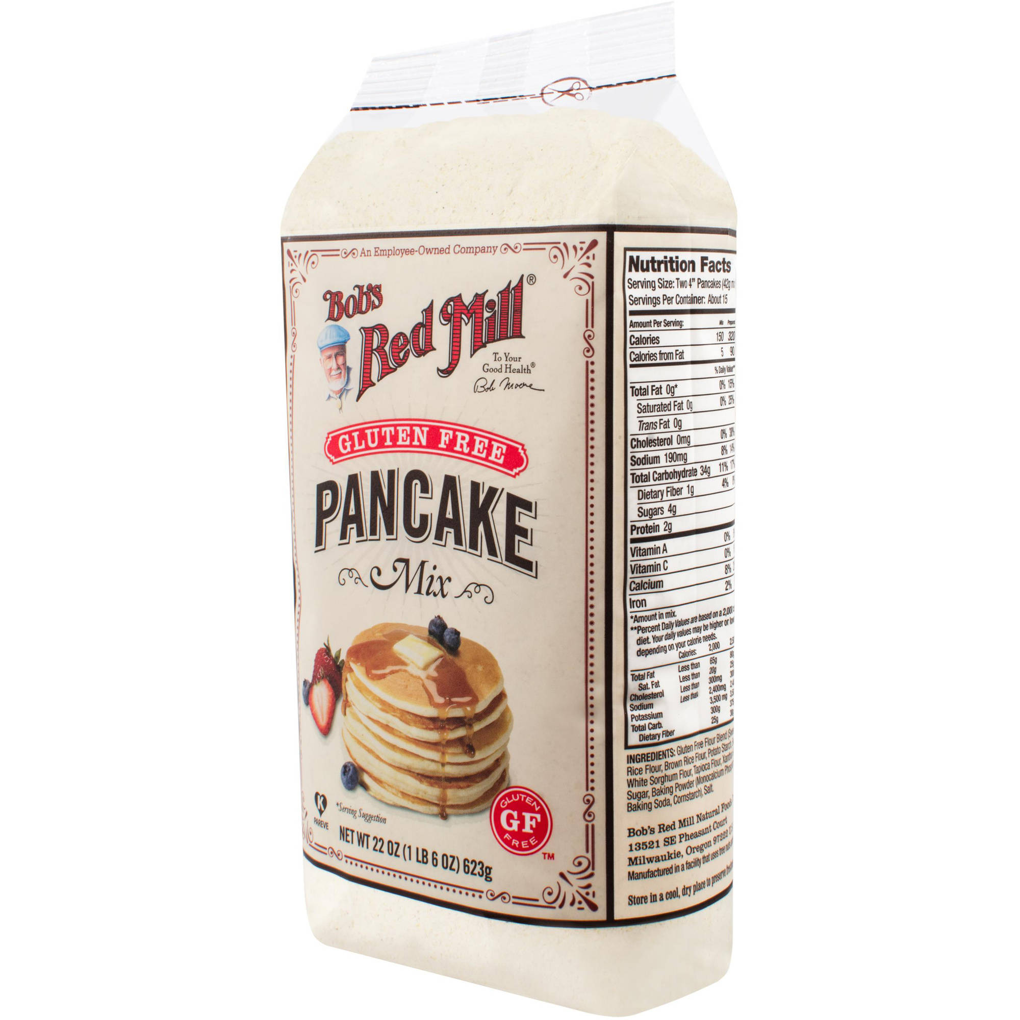 Bob's Red Mill Gluten-Free Pancake Mix, 22 oz, (Pack of 4)
