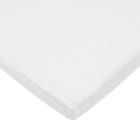 American Baby Cradle (American Baby Company 100% Natural Cotton Jersey Knit 18 x 36 Cradle Sheet - Fitted, White, Soft Breathable, for Boys and Girls Single Pack)