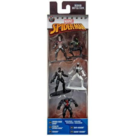 Marvel Nano Metalfigs Spider-Man 2099, Stealth Spider-Man, Venom, Anti-Venom & Agent Venom Diecast Figure - Agent Venom
