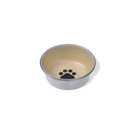 Van Ness Stainless Steel Rubber Bottom Decorated Cat Dish 8oz