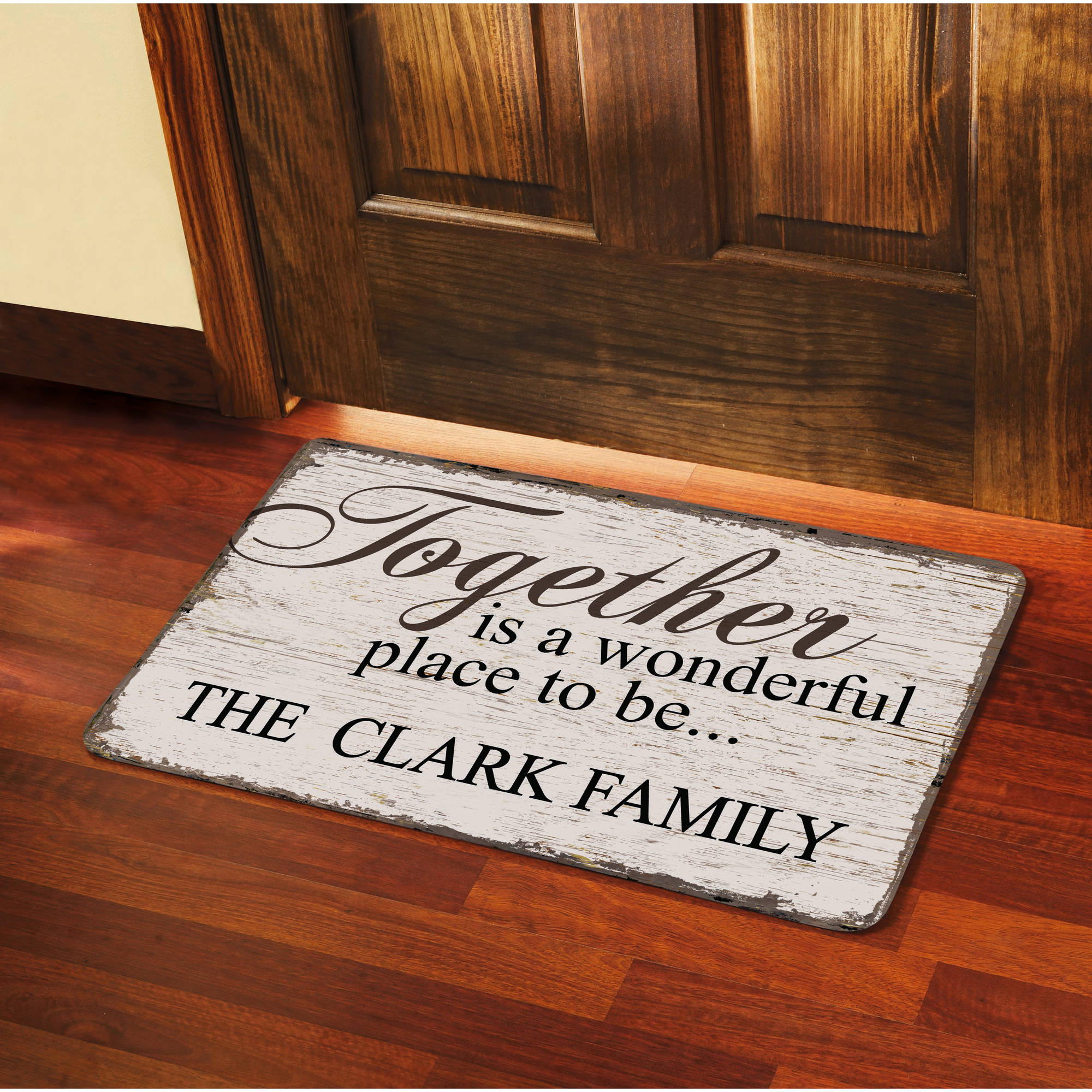 "Personalized ""Together is a Wonderful Place to Be"" Doormat, 17"" x 27"""