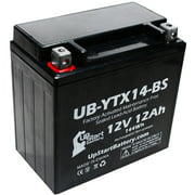 Replacement 2008 BMW F800ST, GS 800 CC Factory Activated, Maintenance Free, Motorcycle Battery - 12V, 12AH, UB-YTX14-BS