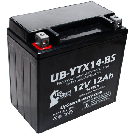 Replacement 2006 Honda VTX1300C, R, S, Retro 1300 CC Factory Activated, Maintenance Free, Motorcycle Battery - 12V, 12AH, UB-YTX14-BS