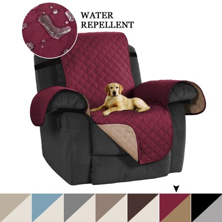 Turquoize Reversible Stay-in-Place Plush Furniture Recliner Protector for Dogs/Cats with Straps, Multiple Colors and Sizes ()