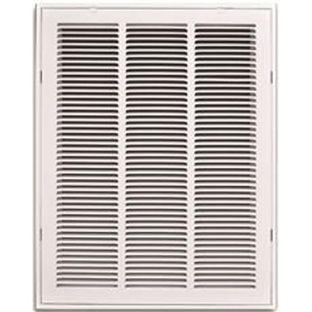 Two Grilles (STAMPED RETURN AIR FILTER GRILLE, REMOVABLE FACE, 16 IN. X 20 IN., WHITE per 2)