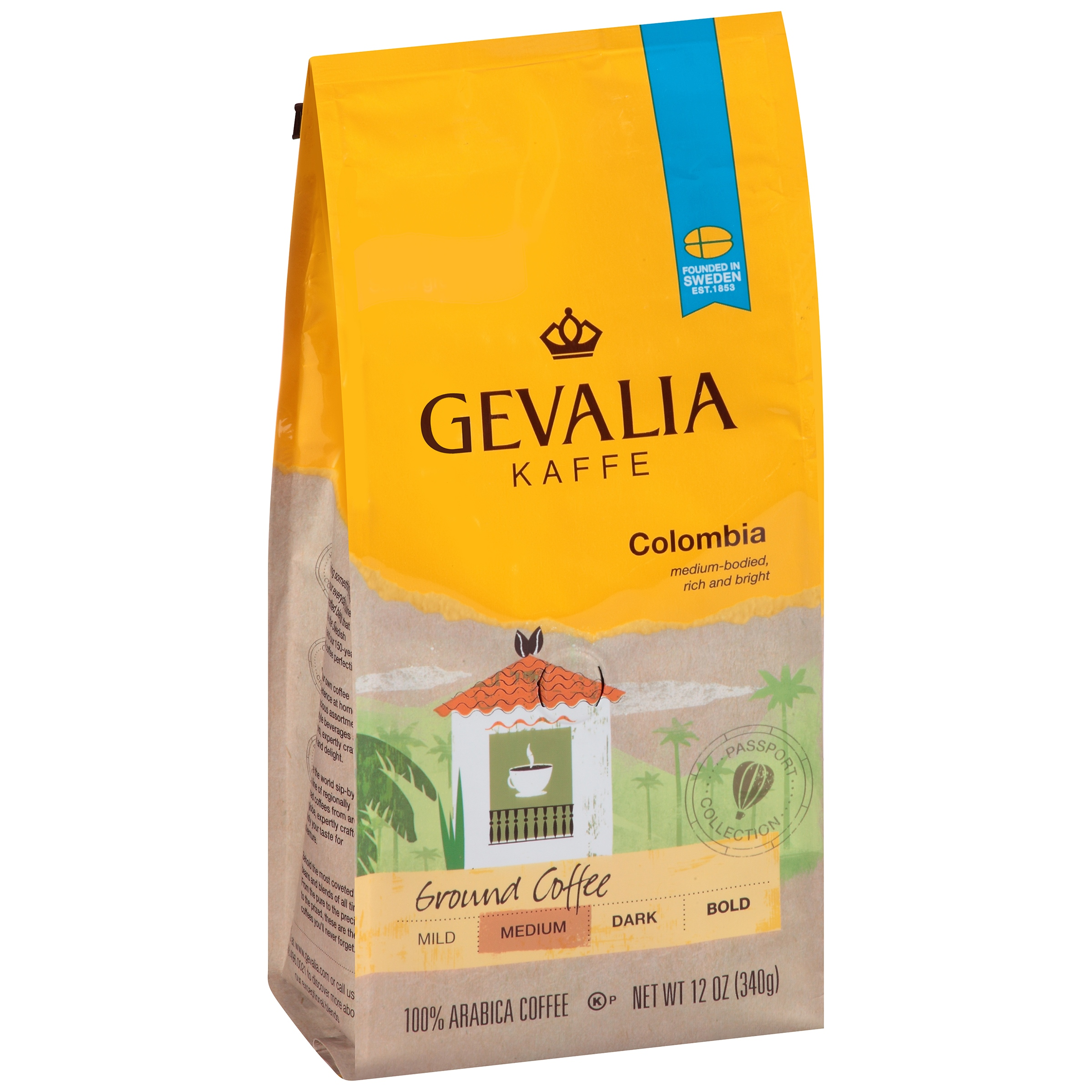 Gevalia Kaffe Colombia Medium Roast Ground Coffee, 12 Oz