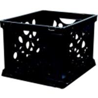 Mini Stackable Storage Crate - Black