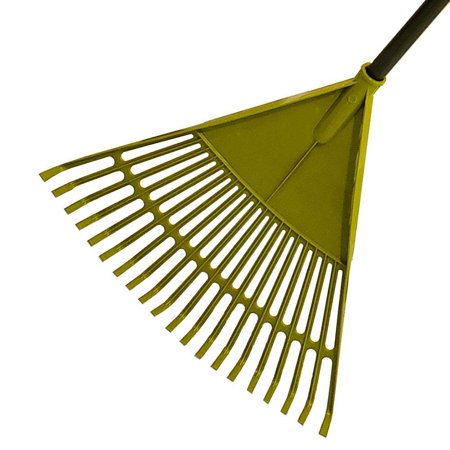 Garden Leaf Rake Tool Collect Leaf Among Delicate Plants,Lawns Yards Telescopic Long Handle Eliminates Bending Shoulder Pain Soft Grip (Long Handled Leaf)