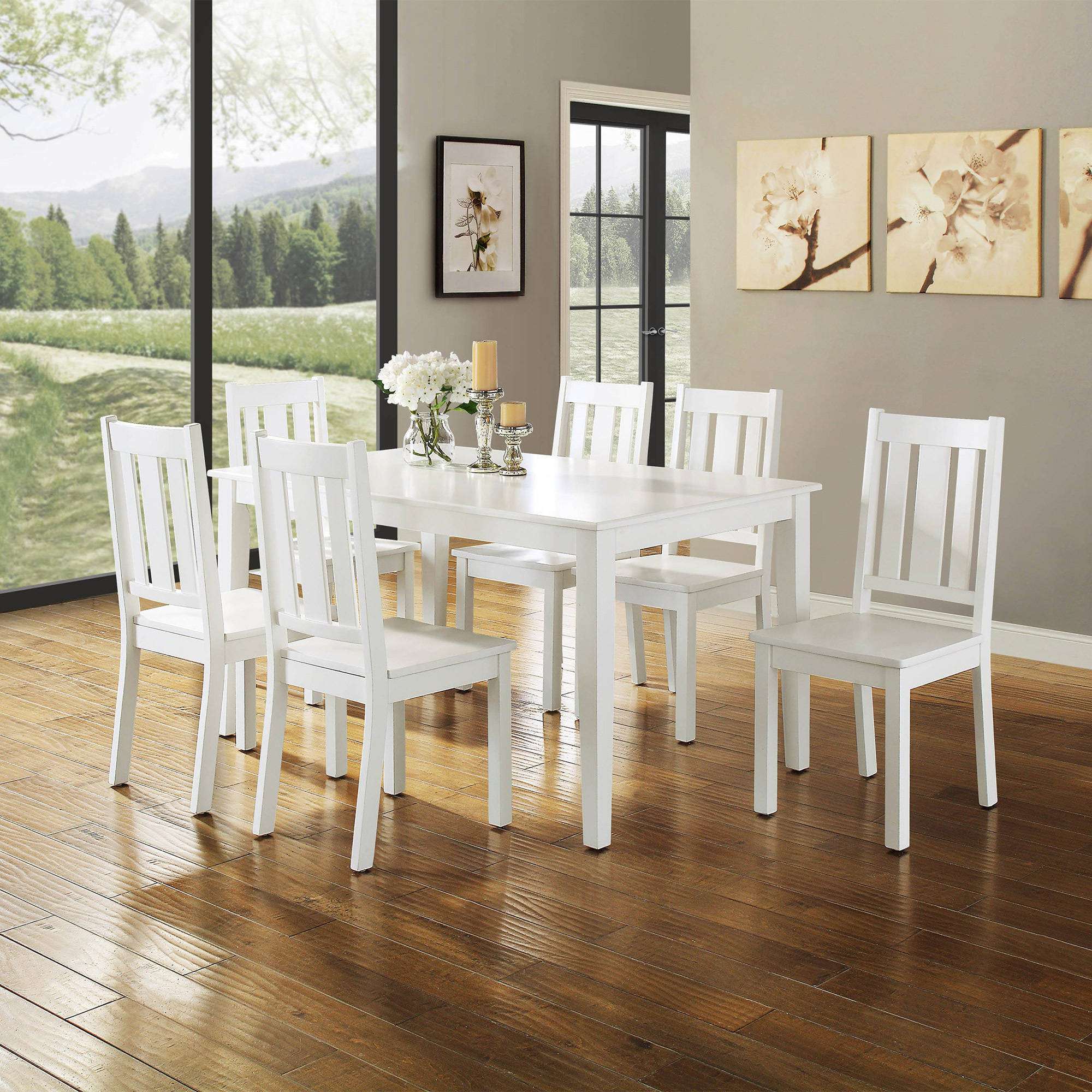 Better Homes and Gardens Bankston 7-Piece Dining Set, White