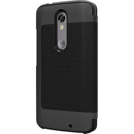 TUMI Leather Folio Wallet Case for Motorola DROID Turbo 2 - Black Leather