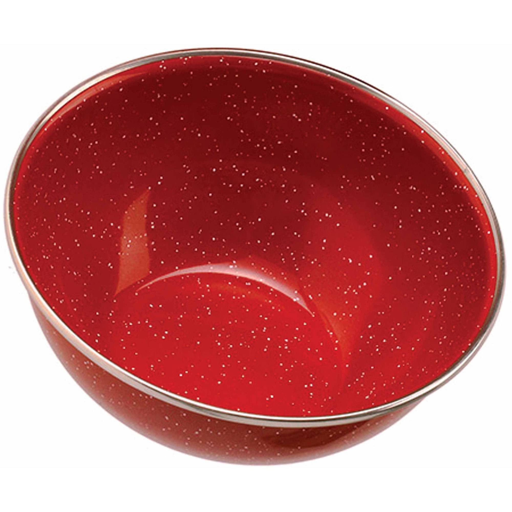 GSI Outdoors Stainless Steel Rim Enamelware Bowl, Red