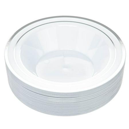 14 oz. Plastic Bowls, Silver Design, 30 Pack by Aya's Cutlery Kingdom Gold Trim Sugar Bowl
