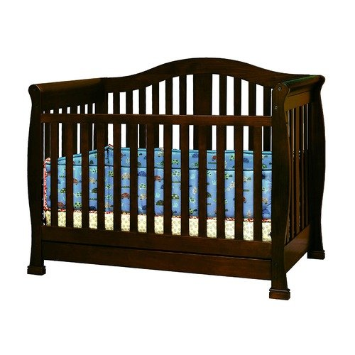 AFG Furniture Athena Spring Convertible Crib with Toddler Rail in Espresso