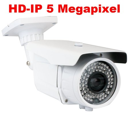 GW Security 5 Megapixel 2592 x 1920 Pixel Super HD 1920P High Resolution Network PoE 1080P Security Bullet IP Camera with 6-22mm Varifocal Zoom Len and 72Pcs IR LED up to 196FT IR Distance