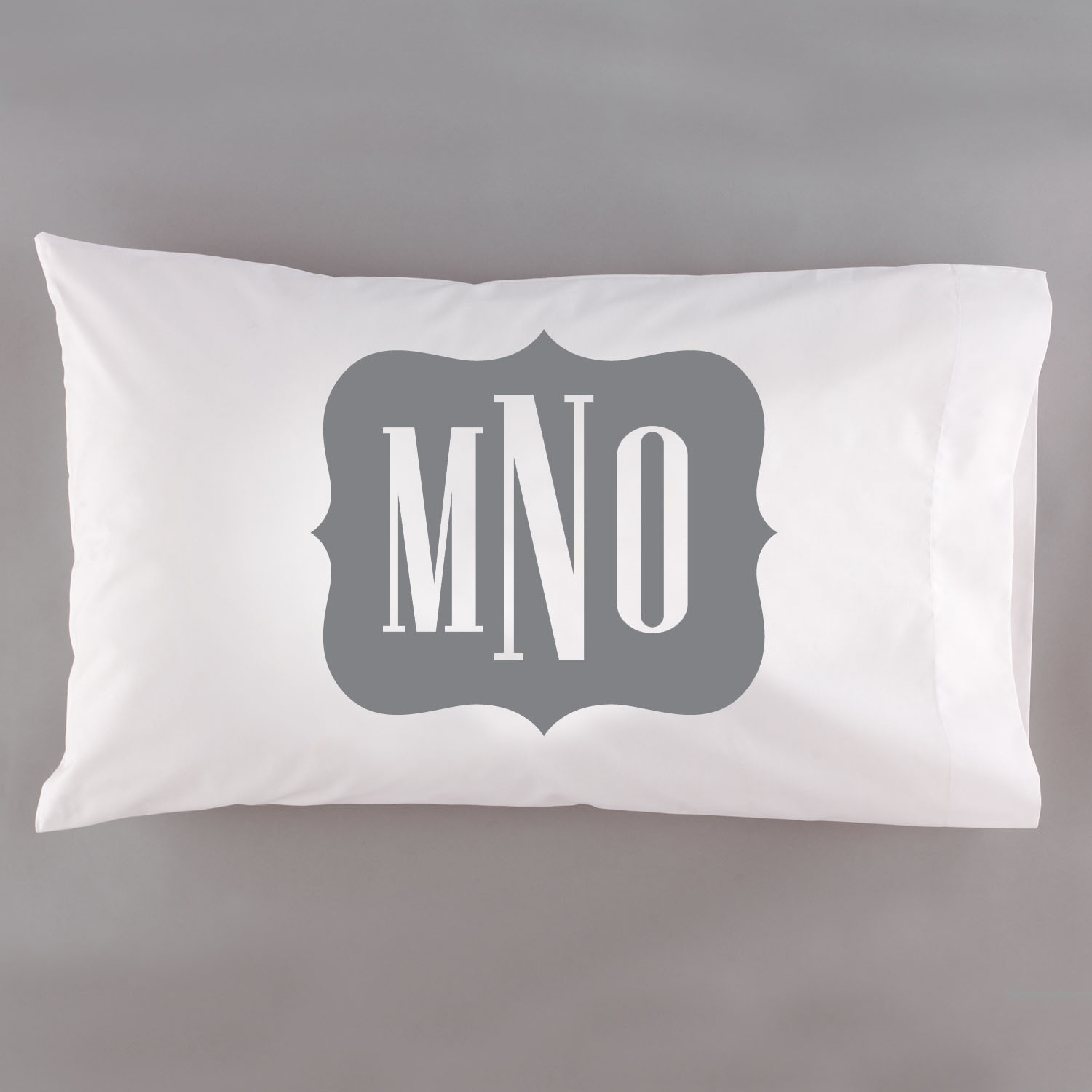 Personalized Framed Monogram Pillowcase, Available in 6 Colors