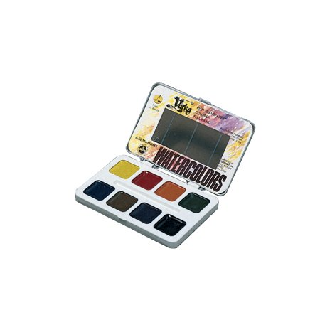 - Yarka Non-Toxic Semi-Moist Students Watercolor Paint Set with Brush, Plastic Full Pan, Assorted Brilliant Color, Set of 12