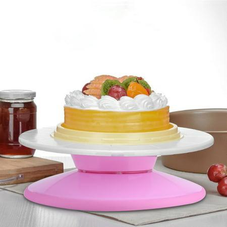 29cm Plastic Anti Skid Cake Turntable Rotating Platform Plate DIY Decor Mounting Pattern Tool, Cake Rotating Stand, Cake Rotating Plarform