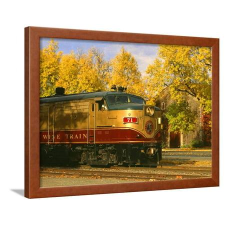 Napa Valley Wine Train Rolls through Rutherford, California, USA Framed Print Wall Art By John Alves