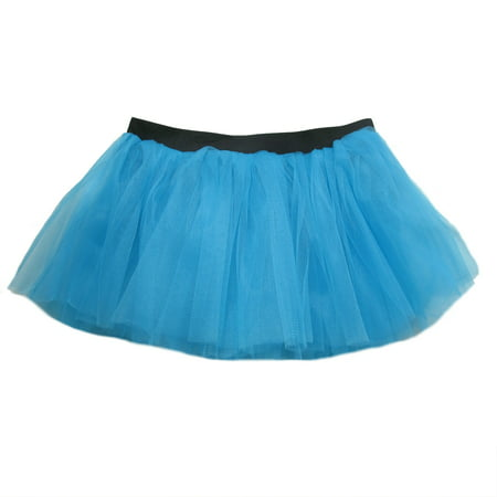 Rave Party Tutu Skirt for Adult/Teen - 3-Layer Tulle Chiffon, Ballet Recital Dress, Princess Party Outfit, Halloween Costume, 5K Running Skirt (Halloween Costumes With Long Black Dresses)