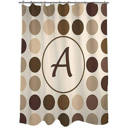 Thumbprintz Dots Monogram Shower Curtain Neutral