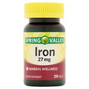Spring Valley Iron Tablets, 27 mg, 250 Count