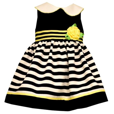 cdc8d601374a Bonnie Jean - Bonnie Jean Baby Girls Navy Yellow Easter Dress 6-9 months -  Walmart.com