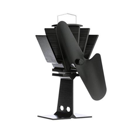 Ecofan 800CAXBX Original Small Heat Powered Wood Stove Fan, Made in Canada, Black