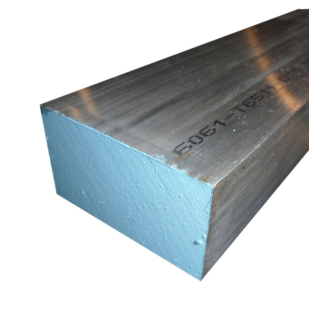 RMP 6061 T6511 Extruded Aluminum Square Bar Mill Finish 5//8 Inch x 5//8 Inch 12 Inch Length