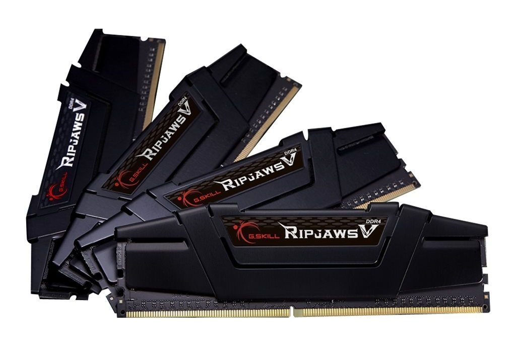 32GB G.Skill DDR4 PC4-25600 3200MHz Ripjaws V for Intel Z170 / X99 CL16 Quad Channel kit (4x8GB)