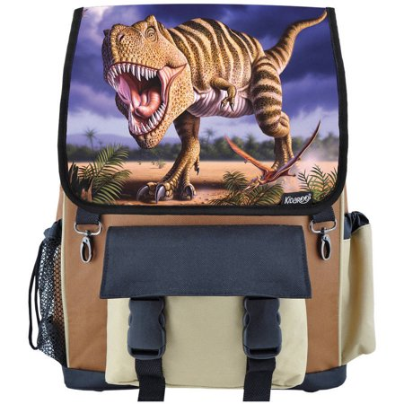 High Quality Striped T-Rex Dinosaur School Backpack For Boys, Girls and Kids, Multiple Colors Available