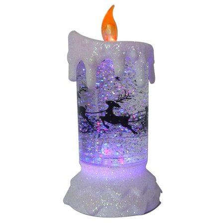 Lightahead® LED glitter flameless candle with Moving Pat