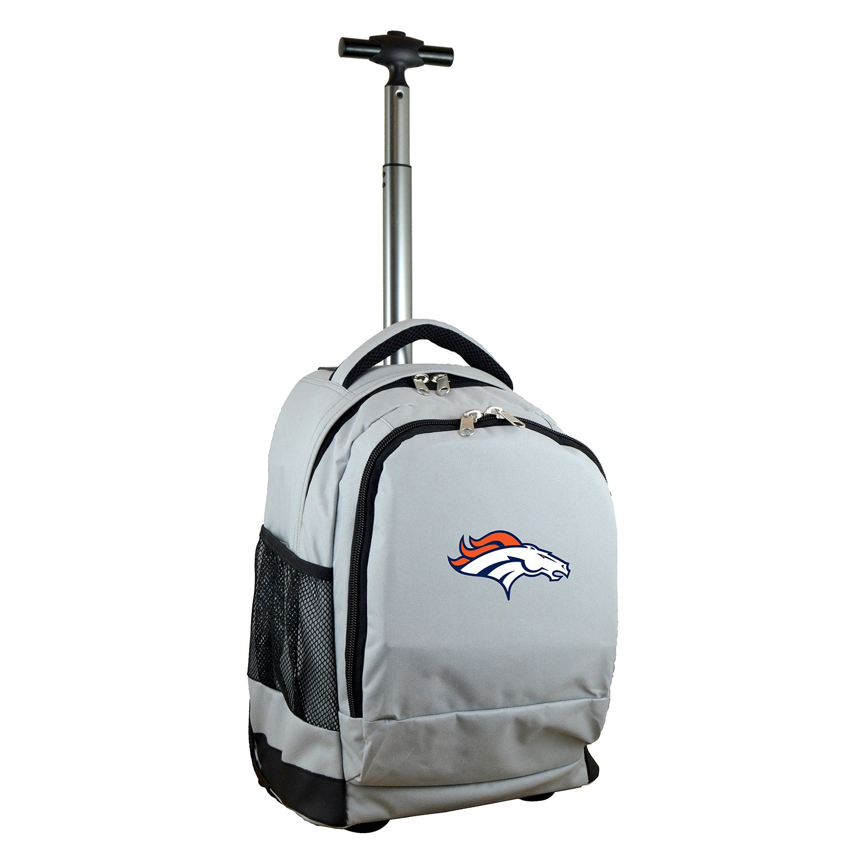 Denver Broncos 19'' Premium Wheeled Backpack - Gray