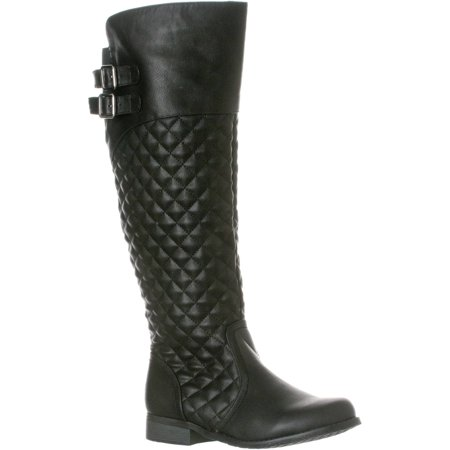 Women's 'Lily' Knee-High Quilted Riding Boot](Brown Costume Boots)