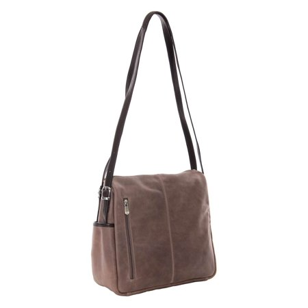 Top-Zip Handbag (Charcoal)