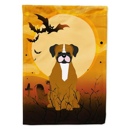 Halloween Flashy Fawn Boxer Garden Flag