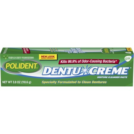 Polident Triple Mint Fresh Paste for Denture Cleaning, 3.9