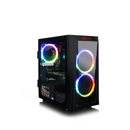 Black 1660 Double Handle - CLX SET GAMING AMD Ryzen 3 2200G 3.5GHz, NVIDIA GeForce GTX 1660 6GB, 8GB Mem, 120 SSD + 1TB HDD