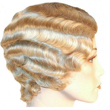 Morris Costumes LW145WT Finger Wave Short White Wig Costume - White Short Wig