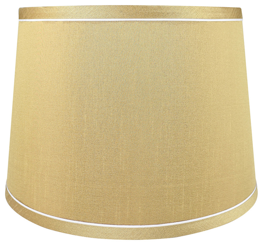 """Urbanest White with Trim French Drum Lamp Shade 10x12x8.5/"""""""