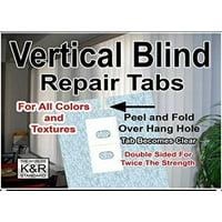 Vertical Blind Repair Tabs, 10 Tabs