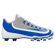 Nike Men's Huarache 2KFilth Pro Low Baseball Cleats, Grey/Royal Blue/White