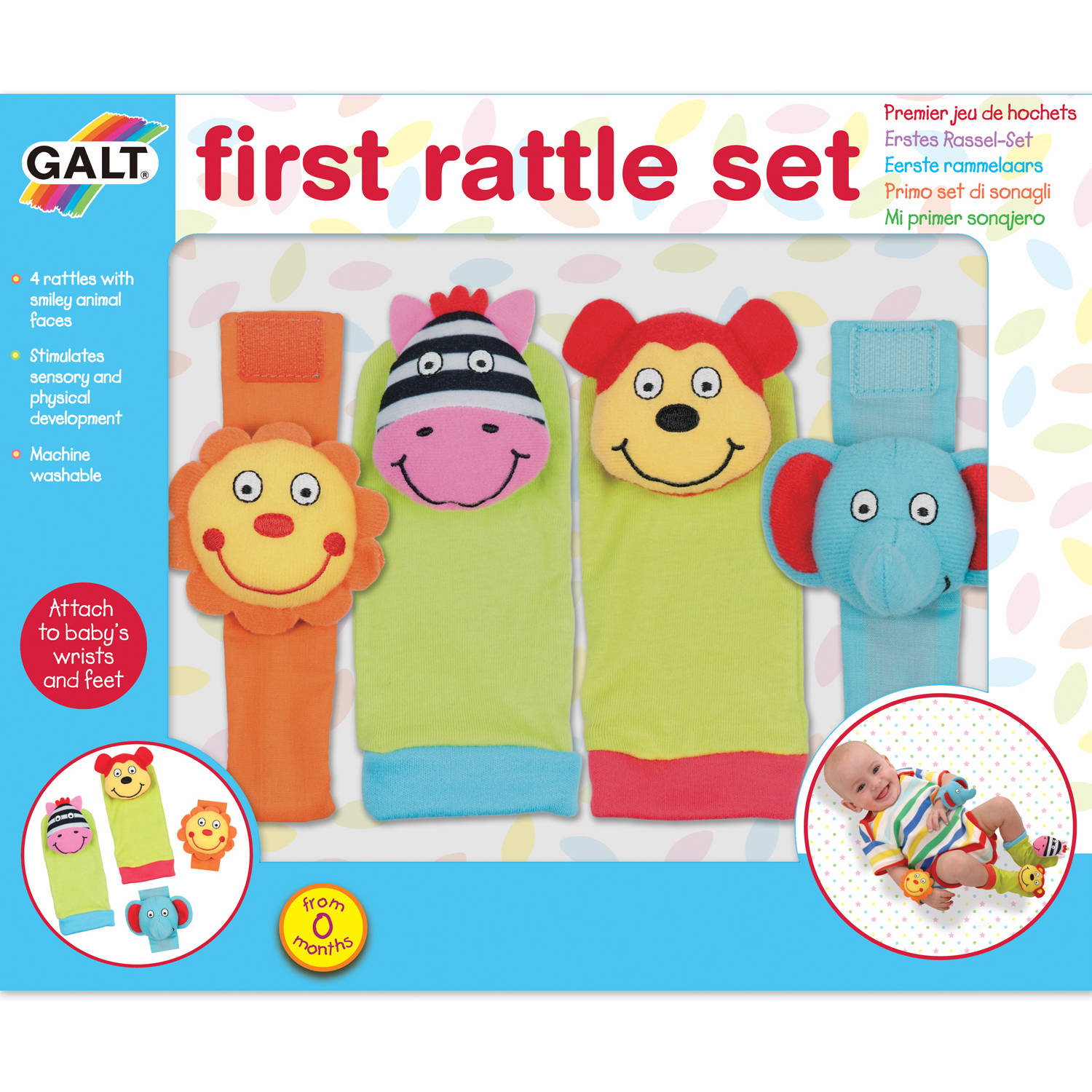 Galt First Years 1004378 First Rattle Se