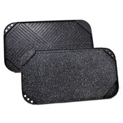 Catering Line Reversible Grill / Griddle Pan | Nonstick, Fits Across Two Burners, Ridged Grill Side and Smooth Griddle Side, Dishwasher Safe, 18 Inch x 10 Inch