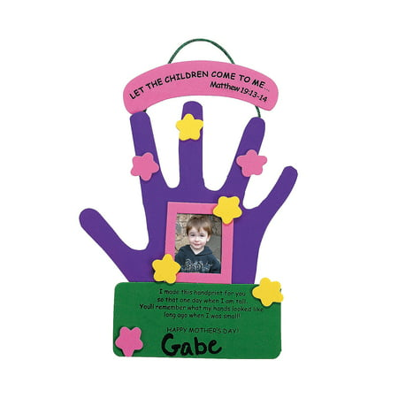 Fun Express - Mother's Day Hand Keepsake Craft Kit for Mother's Day - Craft Kits - Hanging Decor Craft Kits - Handprint Decoration Kits - Mother's Day - 12 (Crafts For Mother's Day)