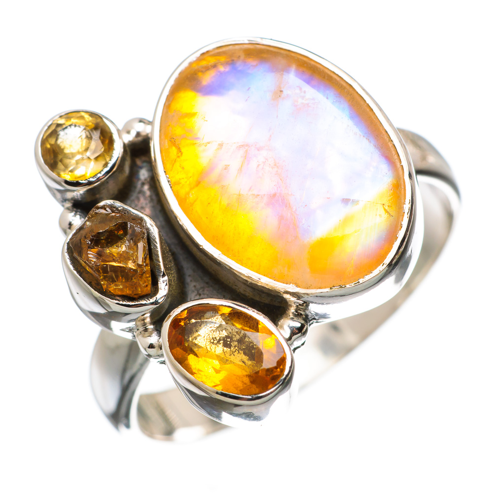 Ana Silver Co Yellow Moonstone, Citrine 925 Sterling Silver Ring Size 9 RING835868