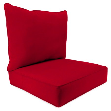 Mainstays Solid Red Outdoor Deep Seating Cushion Set