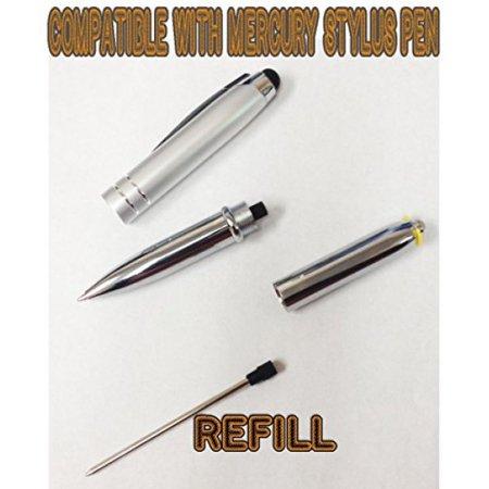 SyPen Tm Pen Refill for Mercury Stylus Flashlight Ballpoint Pen -Black Ink (Black-5Pack)